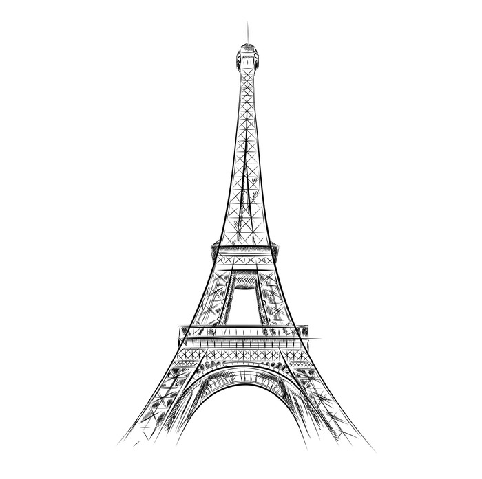 Eiffel Tower Wall Decal   European Cities