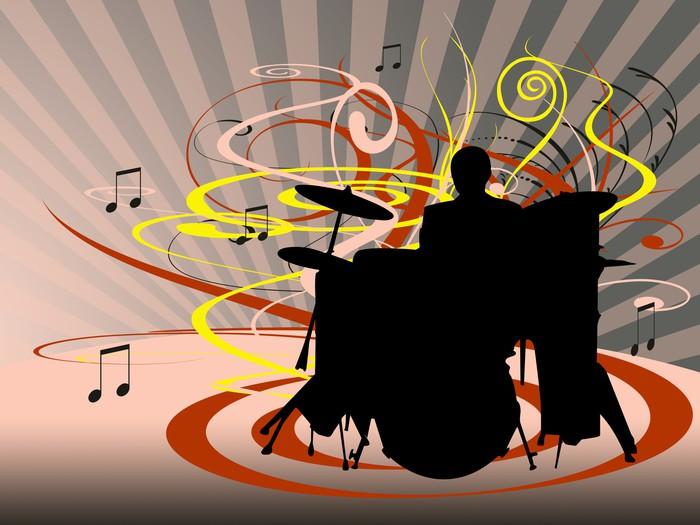 Vinylová Tapeta Bubny - Hudba