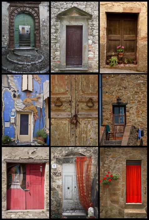 Italian Doors, Composit Vinyl Wall Mural   Art And Creation