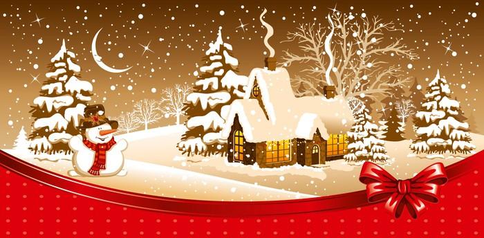 Vinylová Tapeta Vánoce noc - Mezinárodní svátky