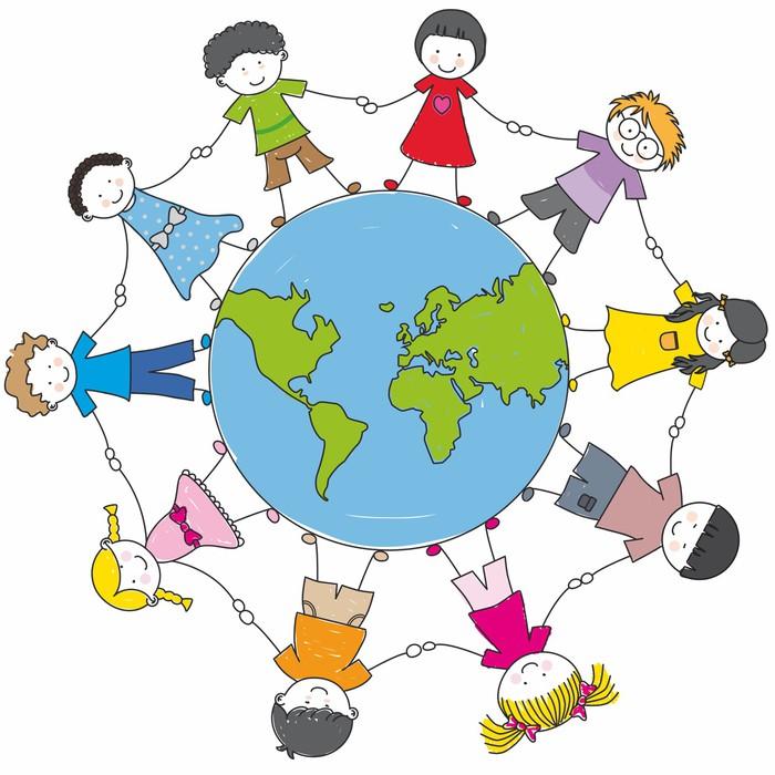 Gerahmtes HD Poster Kinder aus allen ethnischen Gruppen auf der ...