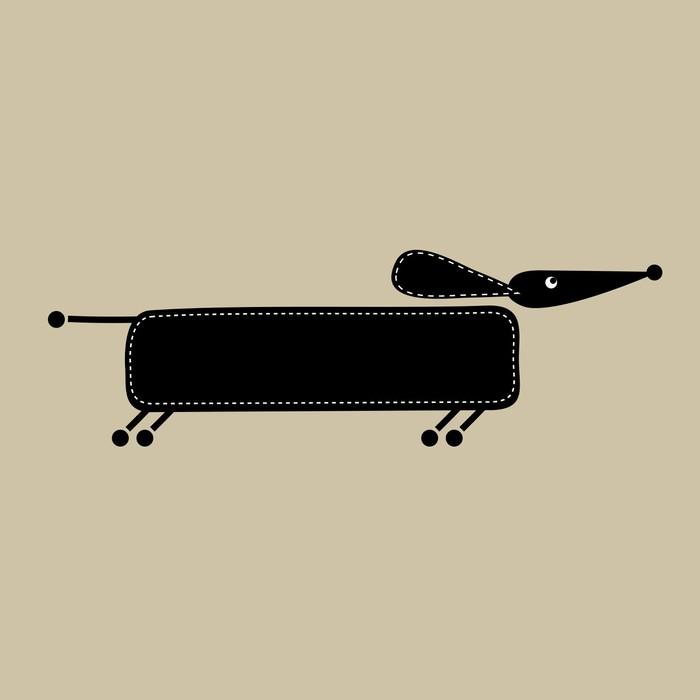 Fototapete Funny dog, Rahmen mit Platz für Ihren Text • Pixers ...