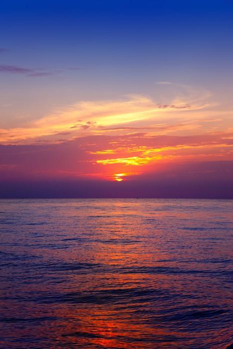 Vinylová Tapeta Středozemní moře horizont svítání voda - Nebe