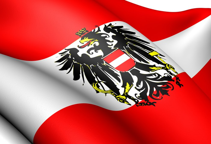 Flag of austria pixerstick sticker themes