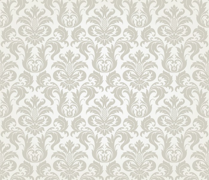 Vector seamless floral damask pattern wall mural pixers for Damask wall mural