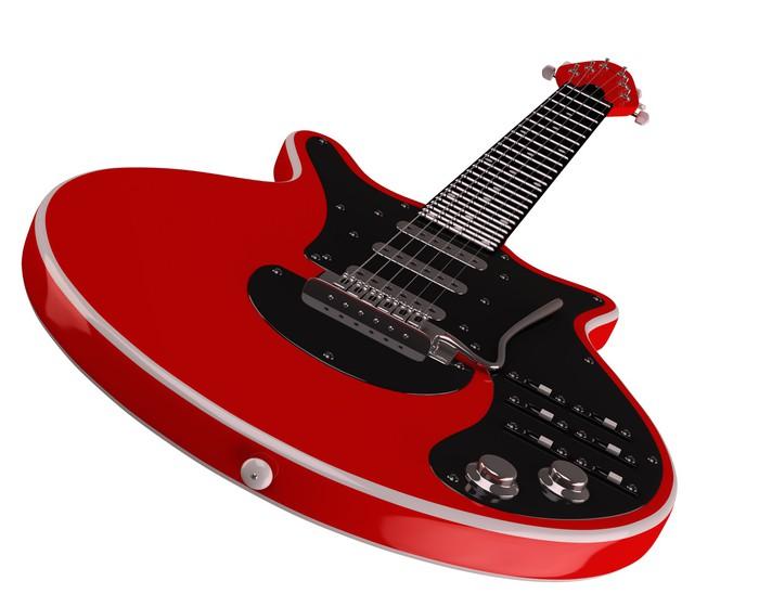papier peint rouge classique guitare lectrique pixers. Black Bedroom Furniture Sets. Home Design Ideas