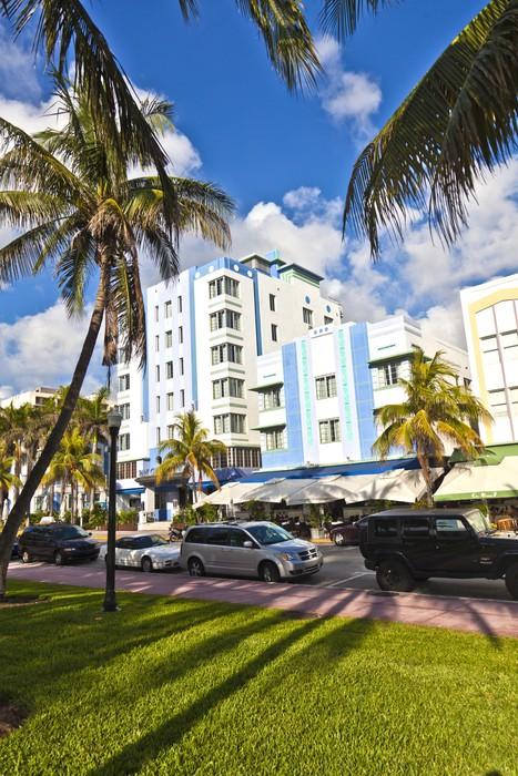 Vinylová fototapeta Krásné domy ve stylu Art Deco v South Miami - Vinylová fototapeta
