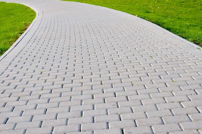 Vinylová Tapeta Zahradní kámen cesta s trávou - Roční období