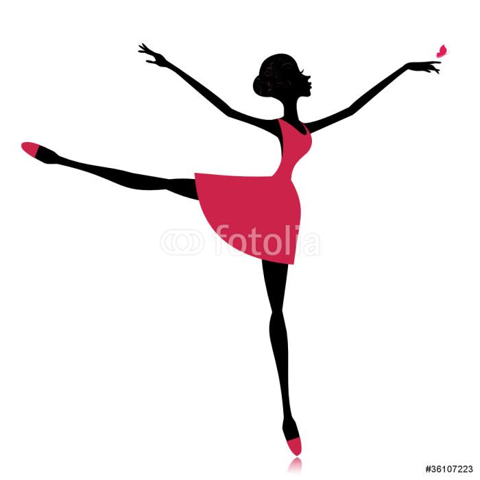 Papier Peint à Motifs Vinyle Danseuse gracieuse avec un papillon - Sports individuels