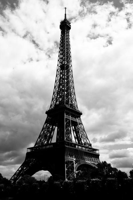 Vinylová Tapeta Eiffelova věž - pohled od řeky Seiny - Evropská města