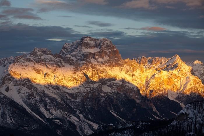 Vinylová Tapeta Západ slunce na Croda da Lago, Dolomity - Hory
