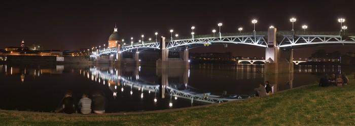 Vinylová Tapeta St-Pierre bridge v noci - Prázdniny