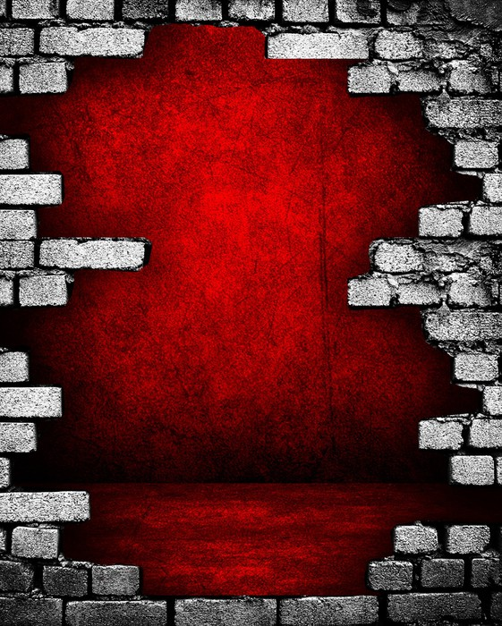 Carta da parati muro di mattoni rotto con il rosso interno for Carta da parati muro mattoni