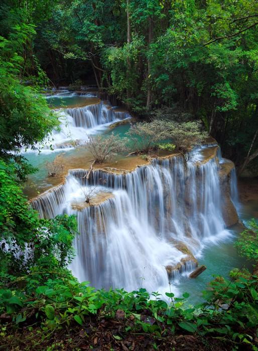 Vinylová Tapeta Deep Forest Waterfall, Kanchanaburi, Thajsko - Témata