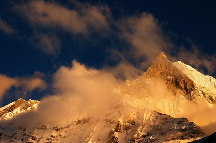 Vinylová Tapeta Barevný západ slunce v Himalájích - Asie