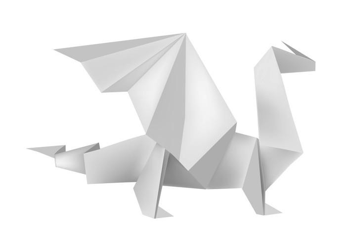 origami dragon sticker pixers we live to change. Black Bedroom Furniture Sets. Home Design Ideas
