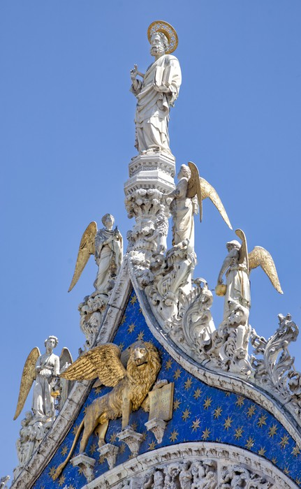 Vinylová Tapeta Saint Mark evangelista a apoštol socha v Benátkách - Evropská města