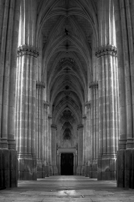 Pillared hallway