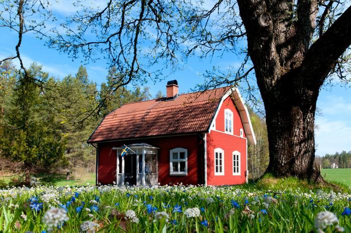 Schwedisches Holzhaus typisches rotes holzhaus in schweden wall mural pixers we live