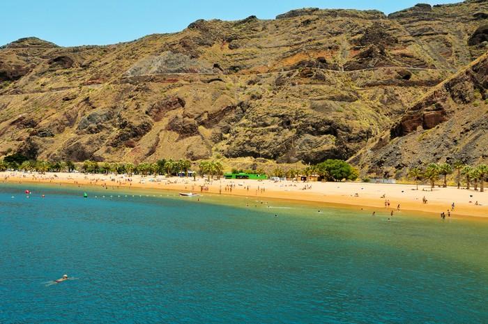Vinylová Tapeta Teresitas Beach na Tenerife, Kanárské ostrovy, Španělsko - Evropa