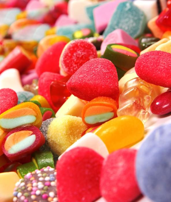 Nálepka Pixerstick Sortiment barevné bonbóny - Sladkosti a dezerty
