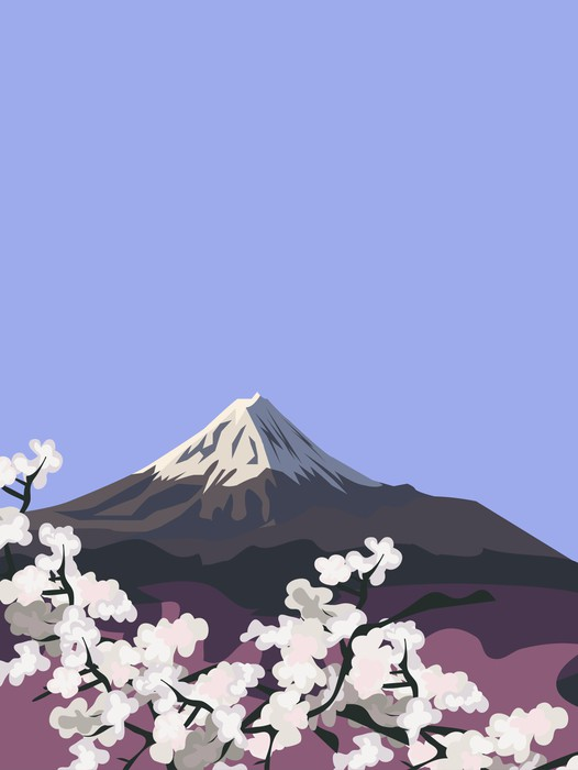 Vinylová Tapeta Hora Fudži - Asie