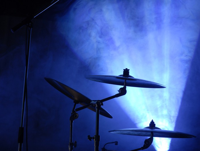 Fototapete Becken in blaues Licht der Scheinwerfer. mehr Licht ...