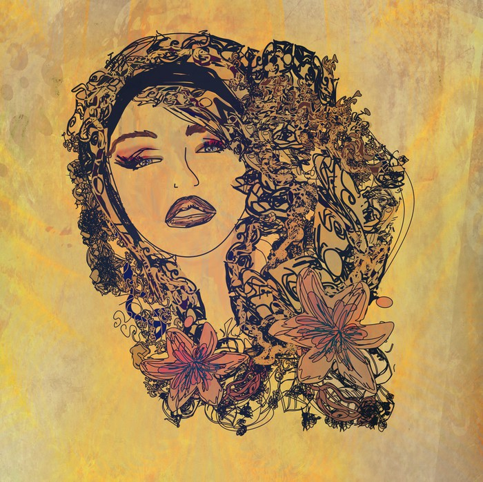 Vinylová fototapeta Abstrakt grunge Portrét ženy - Vinylová fototapeta