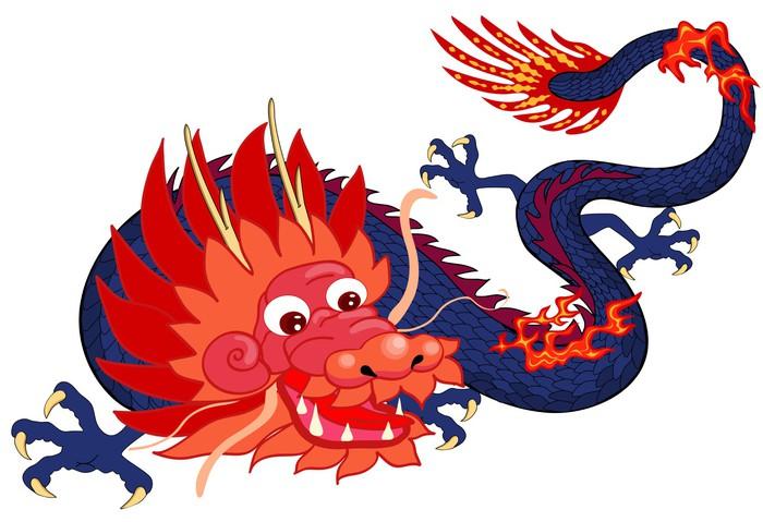 Chinese Dragon Symbol Of The 2012 Year Wardrobe Sticker Pixers