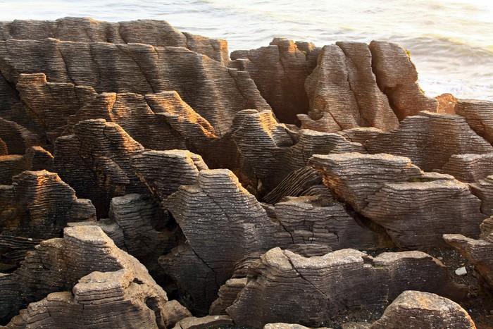 Vinylová Tapeta Krajina Pancake Velkého kaňonu skále na pláži na západním pobřeží Nového Z - Oceánie