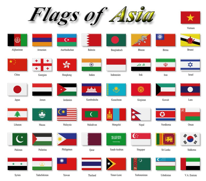 Flags Of Asia Sticker Pixers 174 We Live To Change