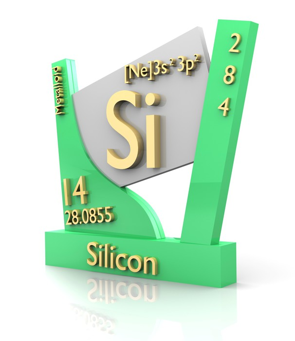Silicon Form Periodic Table Of Elements V2 Wall Mural Pixers