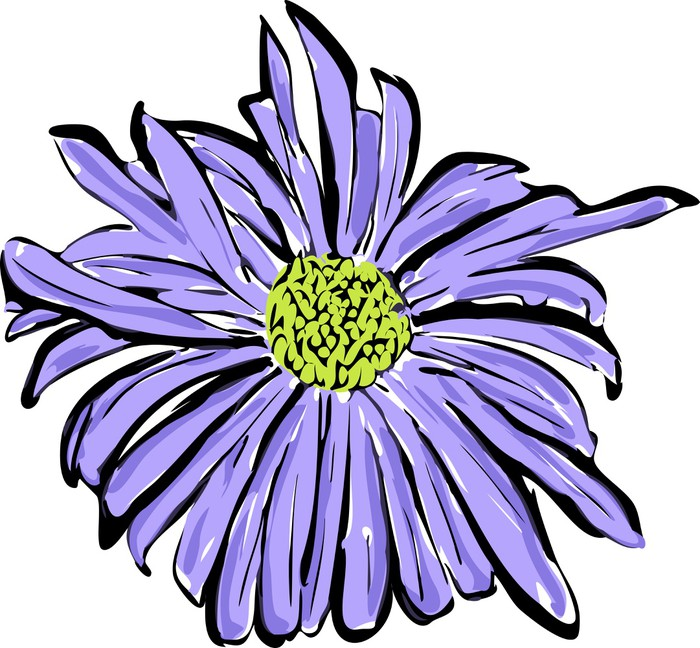 Carta da parati uno schizzo del fiore blu simile ad una margherita carta da parati in vinile uno schizzo del fiore blu simile ad una margherita arte altavistaventures Image collections