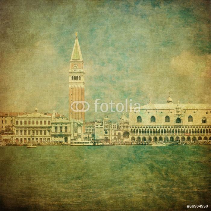 Vinylová Tapeta Vintage image of Venice, Italy - Evropská města