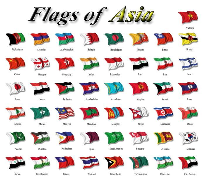 Fototapete flags of asia pixers wir leben um zu - Fototapete asia ...