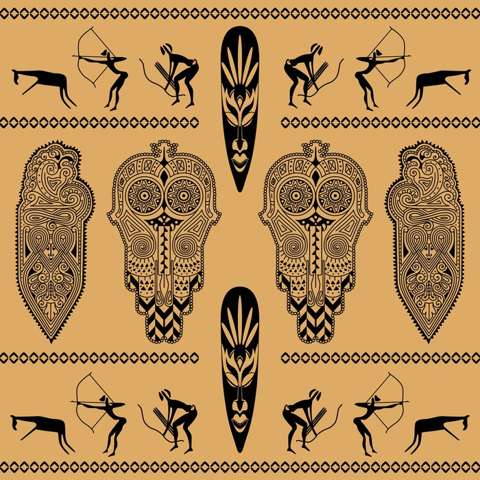 African decorative pattern Vinyl Wallpaper - Africa