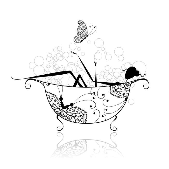 fototapete frau im badezimmer mit schaum f r ihr design pixers wir leben um zu ver ndern. Black Bedroom Furniture Sets. Home Design Ideas