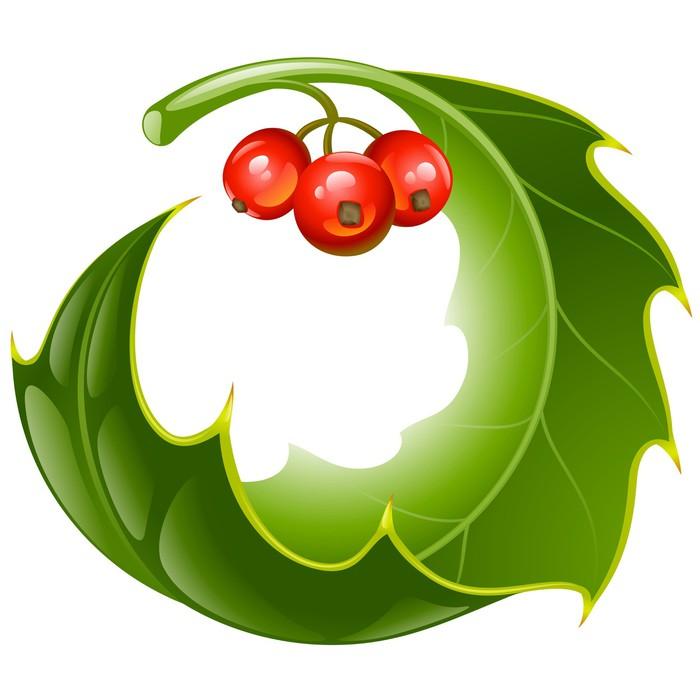 Vinilo Pixerstick Navidad y Año Nuevo Vector acebo del marco del ...