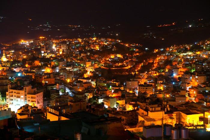 Vinylová fototapeta Bethlehem, Palestine, Izrael: noc panoramatický výhled na město - Vinylová fototapeta