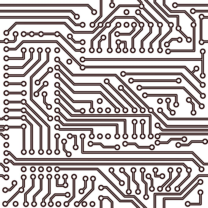 Vector seamless pattern - electronic circuit board background Wall ...