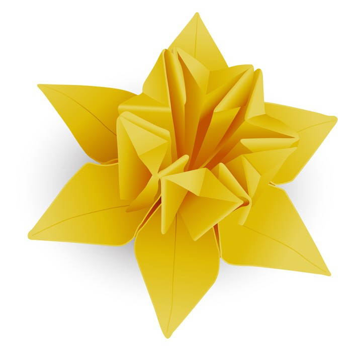 Origami Daffodil Wall Mural • Pixers® • We live to change