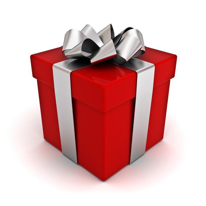 Fabuleux Carta da Parati Contenitore di regalo rosso con fiocco nastro d  GQ17
