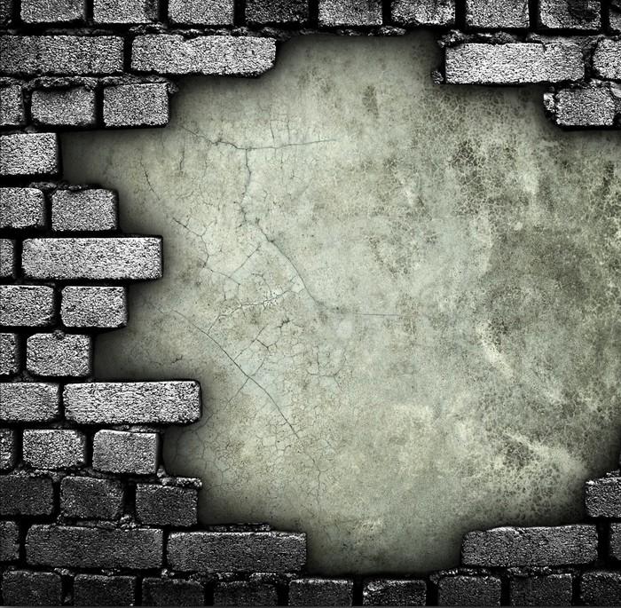 papier peint mur de briques avec le trou pixers nous vivons pour changer. Black Bedroom Furniture Sets. Home Design Ideas