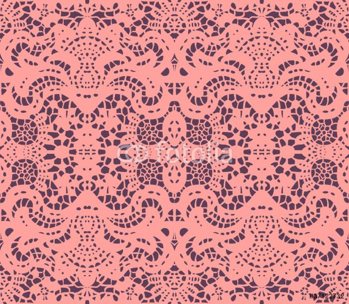 Vinylová Tapeta Růžová krajka ubrousek - Struktury