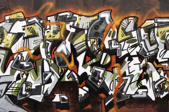 Vinylová Tapeta Urban umění. Detail graffiti na zeď - Témata