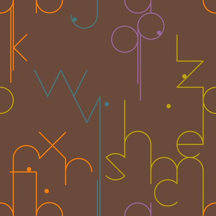 Vinylová Tapeta Abstraktní geometrický vzor bezešvé s písmeny - Pozadí