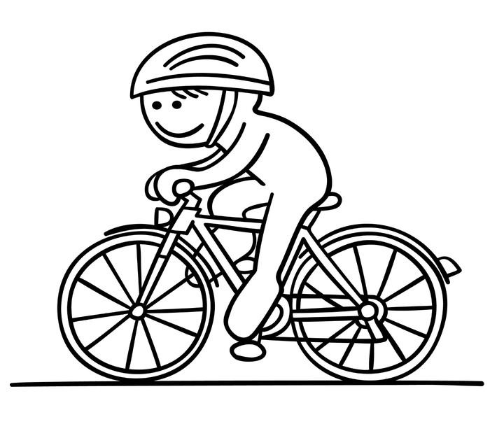 Fototapete figur f hrt fahrrad pixers wir leben um for Fahrrad minimalistisch
