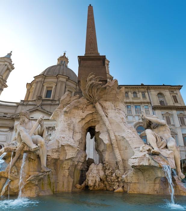 Vinylová Tapeta Fontána čtyř řek v Piazza Navona, Řím - Evropská města