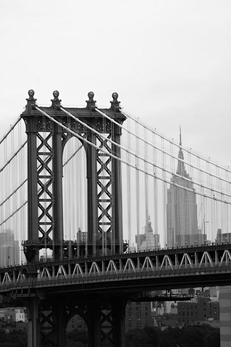 Leinwandbild Manhattan Bridge in New York City (Black and White) - Themen