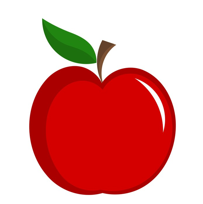sticker rode appel vector pixers we leven om te. Black Bedroom Furniture Sets. Home Design Ideas